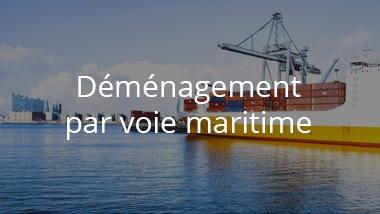 demenagement par voie maritime